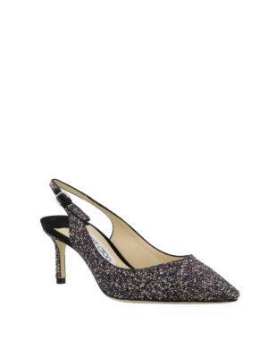 JIMMY CHOO: scarpe décolleté online - Slingback Erin 60 tessuto glitter