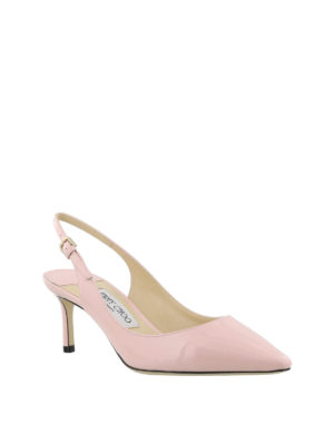 JIMMY CHOO: scarpe décolleté online - Slingback Erin 60 in vernice rosa