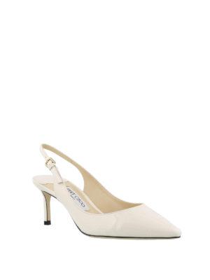 JIMMY CHOO: scarpe décolleté online - Slingback Erin 60 in vernice bianca