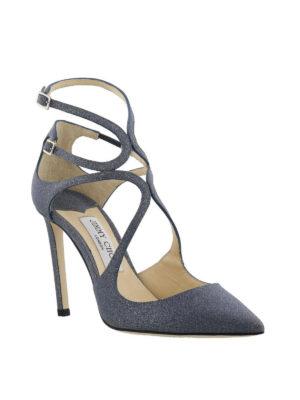 JIMMY CHOO: scarpe décolleté online - Décolleté Lancer 100 glitterate