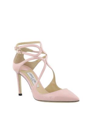 JIMMY CHOO: scarpe décolleté online - Décolleté Lancer 85 in vernice rosa