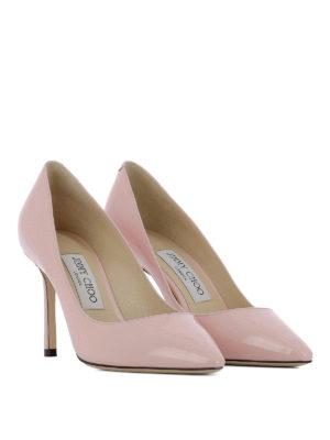 JIMMY CHOO: scarpe décolleté online - Sensuali décolleté in vernice Romy 85
