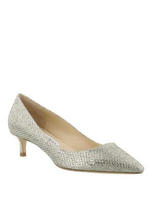 JIMMY CHOO: scarpe décolleté online - Décolleté Romycolor champagne brillante