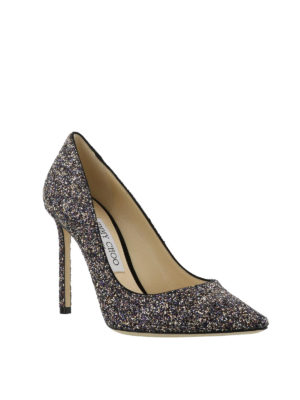 JIMMY CHOO: scarpe décolleté online - Décolleté Romy in glitter color twilight