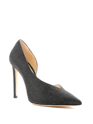 JIMMY CHOO: scarpe décolleté online - Décolleté Sophia 100 in pelle glitterata