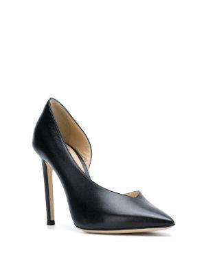 JIMMY CHOO: scarpe décolleté online - Décolleté asimmetriche Sophia 100 in pelle