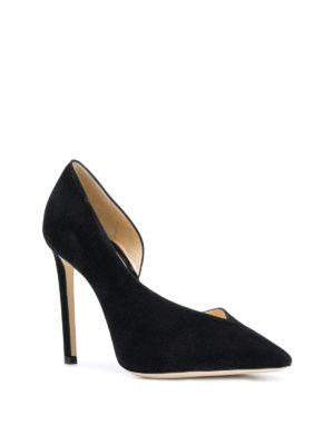 JIMMY CHOO: scarpe décolleté online - Décolleté asimmetriche Sophia 100 in suede