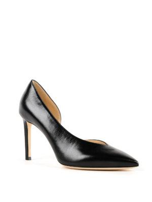 JIMMY CHOO: scarpe décolleté online - Décolleté nere Sophia 85 con taglio a V