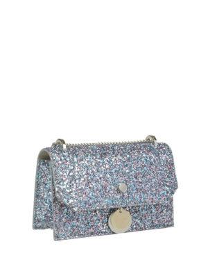 JIMMY CHOO: borse a tracolla online - Tracolla Finley in tessuto glitter