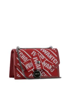 JIMMY CHOO: borse a tracolla online - Tracollina Finley rossa in nastro logato