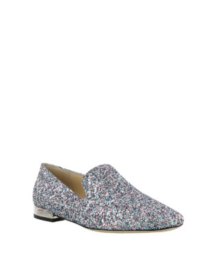 JIMMY CHOO: Mocassini e slippers online - Slipper Jaida in tessuto glitter