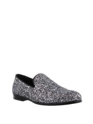 JIMMY CHOO: Mocassini e slippers online - Mocassini Marlo glitter e vernice