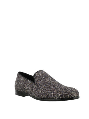 JIMMY CHOO: Mocassini e slippers online - Mocassini Marlo in glitter twilight
