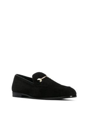 JIMMY CHOO: Mocassini e slippers online - Mocassini Marti in suede morsetto in metallo