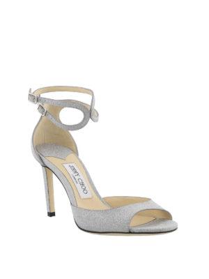 JIMMY CHOO: sandali online - Sandali Lane 85 in glitter argento