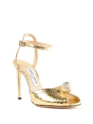 JIMMY CHOO: sandali online - Sandali Sacora in pelle laminata