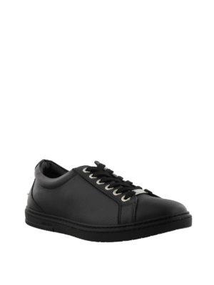 JIMMY CHOO: sneakers online - Sneaker Cash nere in pelle liscia
