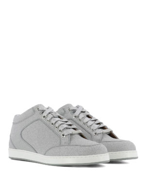 JIMMY CHOO: sneakers online - Sneaker Miami in fine glitter argento
