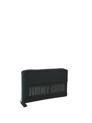 JIMMY CHOO: portafogli online - Portafoglio nero Carnaby con cerniera