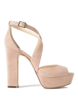 Jimmy Choo: sandals - April 120 suede platform sandals