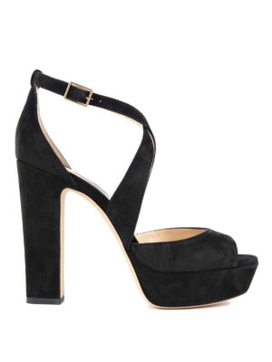 Jimmy Choo: sandals - April 120 suede sandals