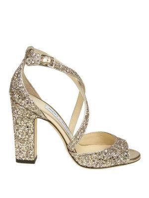 Jimmy Choo: sandals - Carrie 100 glitter sandals