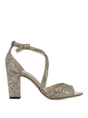 Jimmy Choo: sandals - Carrie 85 glitter sandals