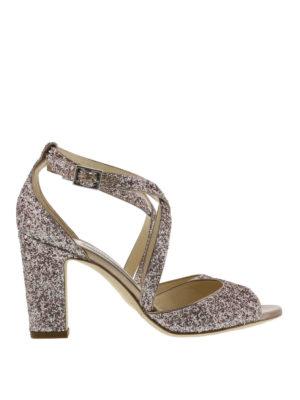 Jimmy Choo: sandals - Carrie open toe glitter sandals