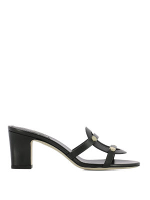 Jimmy Choo: sandals - Damaris 65 leather sandals