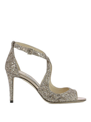 Jimmy Choo: sandals - Emily 85 glitter sandals