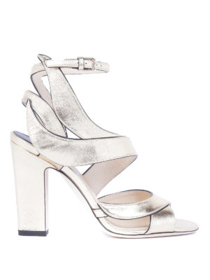 Jimmy Choo: sandals - Falcon 100 mirror leather sandals