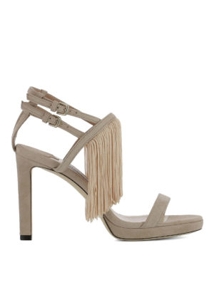 Jimmy Choo: sandals - Farrah 100 suede sandals