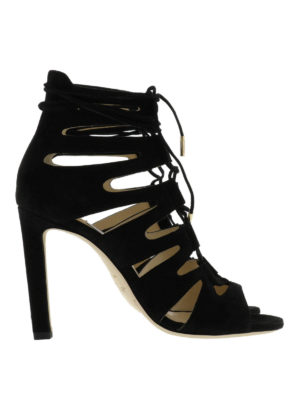 Jimmy Choo: sandals - Hitch strappy suede sandals