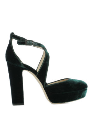 Jimmy Choo: sandals - Joyce criss cross velvet sandals