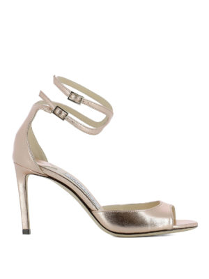 Jimmy Choo: sandals - Lane 85 laminated leather sandals