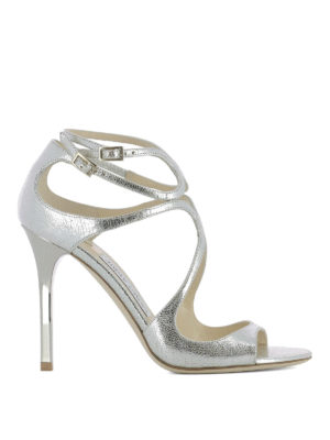 Jimmy Choo: sandals - Lang glitter leather sandals