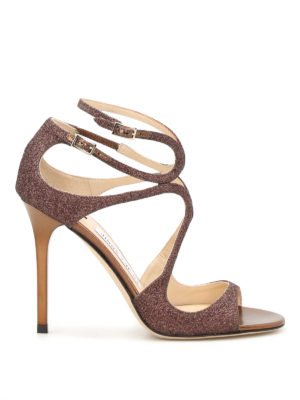 Jimmy Choo: sandals - Lang glitter strappy sandals