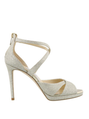 Jimmy Choo: sandals - Lorina 100 glittered sandals