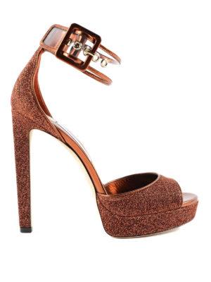 Jimmy Choo: sandals - Mayner 130 lurex sandals