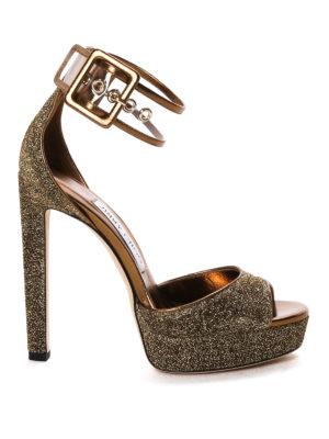 Jimmy Choo: sandals - Mayner glitter platform sandals