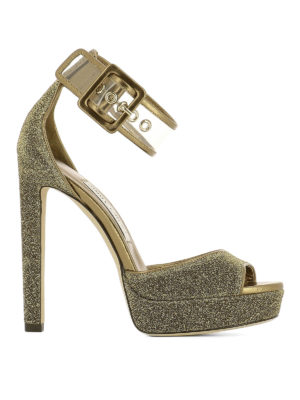 Jimmy Choo: sandals - Mayner glitter platform sandals