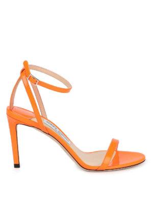 JIMMY CHOO: sandals - Minny 85 neon sandals