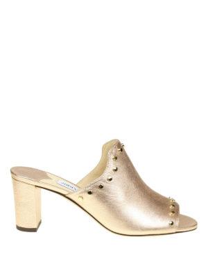 Jimmy Choo: sandals - Myla 65 metallic nappa sandals