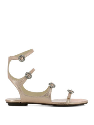 Jimmy Choo: sandals - Naia laminated leather sandals