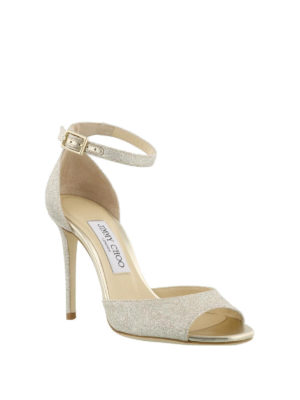 Jimmy Choo: sandals online - Annie 100 glitter sandals