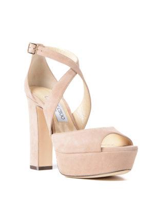 Jimmy Choo: sandals online - April 120 suede platform sandals