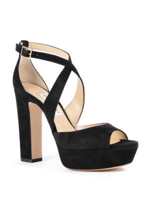 Jimmy Choo: sandals online - April 120 suede sandals