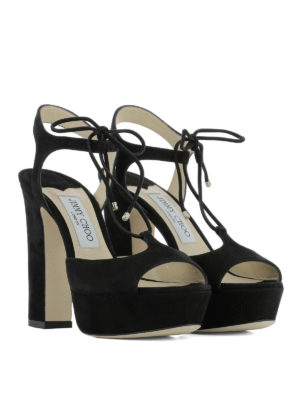 Jimmy Choo: sandals online - Belize 120 suede sandals