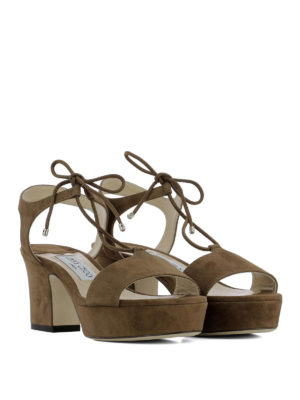 Jimmy Choo: sandals online - Belize 65 suede sandals