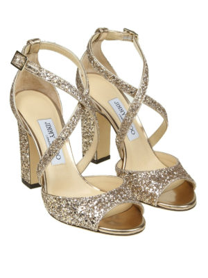 Jimmy Choo: sandals online - Carrie 100 glitter sandals